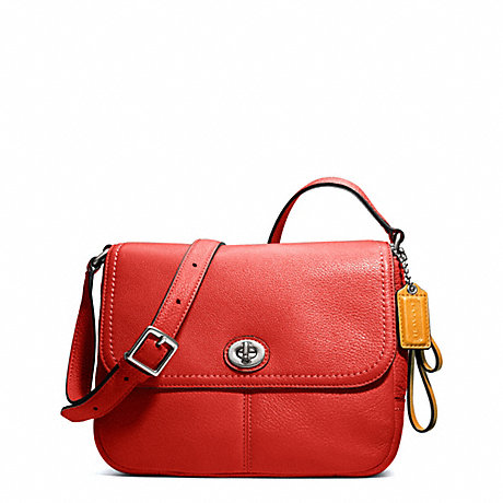 COACH f23663 PARK LEATHER VIOLET SILVER/VERMILLION