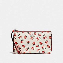 LARGE WRISTLET WITH FRUIT PRINT - SILVER/CHALK MULTI - COACH F23675