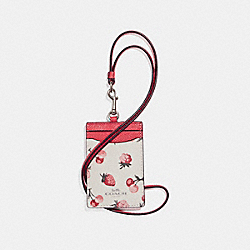 COACH ID LANYARD WITH FRUIT PRINT - SILVER/CHALK MULTI - F23679