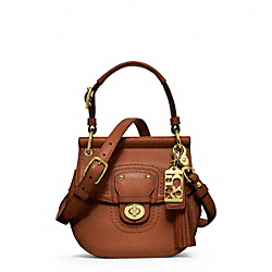 COACH LEATHER MINI WILLIS - ONE COLOR - F23706