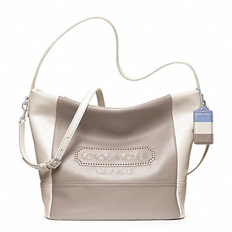 Legacy Weekend Colorblock Leather Shoulder Bag 120