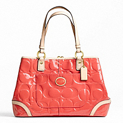 PEYTON EMBOSSED PATENT FRAMED SHOPPER - f23722 - 12023