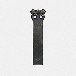 COACH FUZZ BOOKMARK - BLACK - F23731