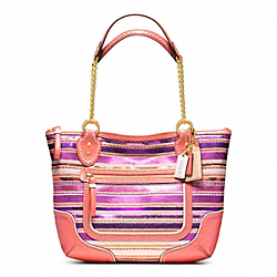 POPPY SEQUIN SMALL CHAIN TOTE COACH F23843