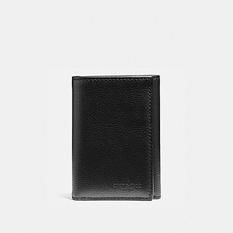 COACH TRIFOLD WALLET - BLACK - F23845