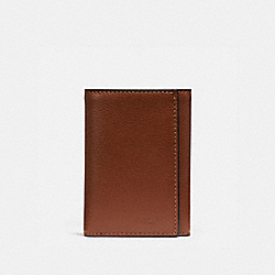 COACH TRIFOLD WALLET - SADDLE - F23845