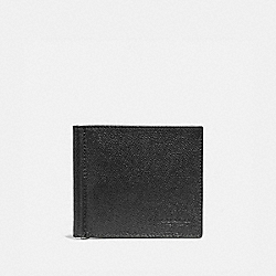 COACH MONEY CLIP BILLFOLD - BLACK - F23847