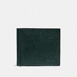 MONEY CLIP BILLFOLD - FOREST/NICKEL - COACH F23847