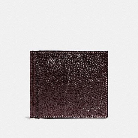 COACH MONEY CLIP BILLFOLD - OXBLOOD - F23847