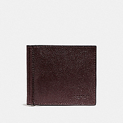 COACH MONEY CLIP BILLFOLD - OXBLOOD - F23847