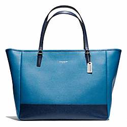 COACH SAFFIANO COLORBLOCK LARGE CITY TOTE - ONE COLOR - F23883