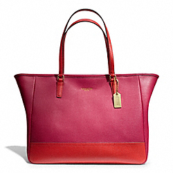 COACH SAFFIANO MEDIUM COLORBLOCK CITY TOTE - ONE COLOR - F23884