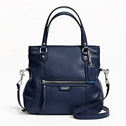 COACH DAISY LEATHER MIA - SILVER/MIDNIGHT NAVY - F23901