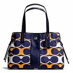 COACH SIGNATURE STRIPE LINEAR SIGNATURE CARRYALL - ONE COLOR - F23902