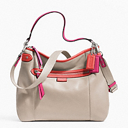 COACH DAISY SPECTATOR LEATHER CONVERTIBLE HOBO - SILVER/SAND MULTICOLOR - F23903
