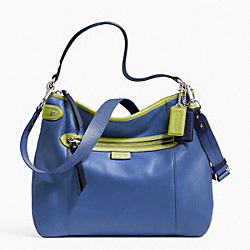 COACH DAISY SPECTATOR LEATHER CONVERTIBLE HOBO - SILVER/MOONLIGHT BLUE MULTI - F23903