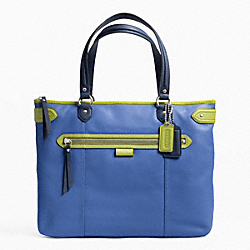 DAISY SPECTATOR LEATHER EMMA TOTE - f23922 - SILVER/MOONLIGHT BLUE MULTI