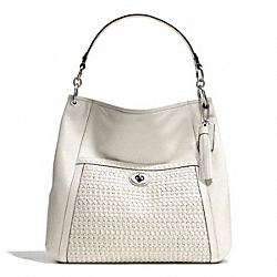 COACH PARK WOVEN LEATHER HOBO - ONE COLOR - F23931
