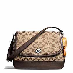 COACH PARK SIGNATURE FLAP BAG - ONE COLOR - F23933