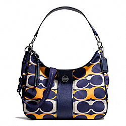 COACH SIGNATURE STRIPE LINEAR SIGNATURE CONVERTIBLE HOBO - ONE COLOR - F23936