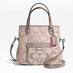 COACH DAISY OUTLINE SIGNATURE METALLIC MIA - SILVER/LIGHT KHAKI/GOLD - F23940