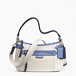COACH DAISY SPECTATOR LEATHER CROSSBODY - SILVER/PARCHMENT MULTI - F23951