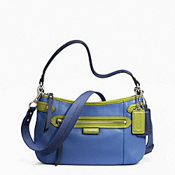 COACH DAISY SPECTATOR LEATHER CROSSBODY - SILVER/MOONLIGHT BLUE MULTI - F23951