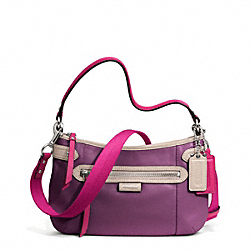 COACH DAISY SPECTATOR LEATHER CROSSBODY - SILVER/PURPLE MULTI - F23951