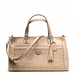 COACH PARK WOVEN LEATHER CARRYALL - ONE COLOR - F23956