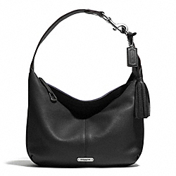 COACH AVERY LEATHER SMALL HOBO - SILVER/BLACK - F23960