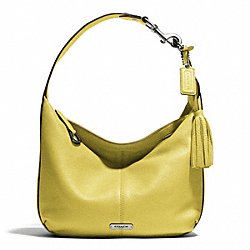 COACH AVERY LEATHER SMALL HOBO - SILVER/CHARTREUSE - F23960