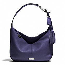 COACH AVERY LEATHER SMALL HOBO - SILVER/INDIGO - F23960