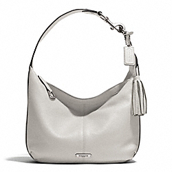 COACH AVERY LEATHER SMALL HOBO - SILVER/PEARL - F23960