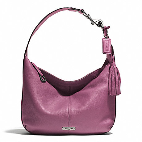 COACH AVERY LEATHER SMALL HOBO - SILVER/ROSE - f23960