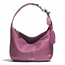 AVERY LEATHER SMALL HOBO - SILVER/ROSE - COACH F23960