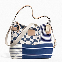 COACH DAISY PATCHWORK CONVERTIBLE HOBO - ONE COLOR - F23963