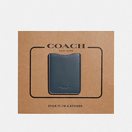 COACH PHONE POCKET STICKER - DENIM - F24051
