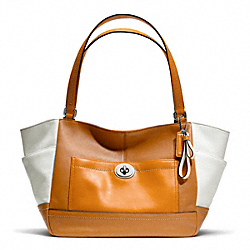 COACH PARK COLORBLOCK CARRIE - SILVER/NATURAL MULTI - F24065