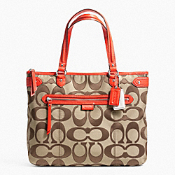 COACH DAISY OUTLINE SIGNATURE EMMA TOTE - ONE COLOR - F24066