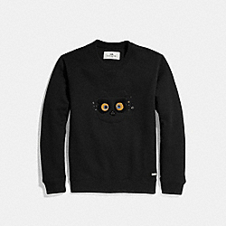COACH BEAR SWEATSHIRT - BLACK - COACH F24089