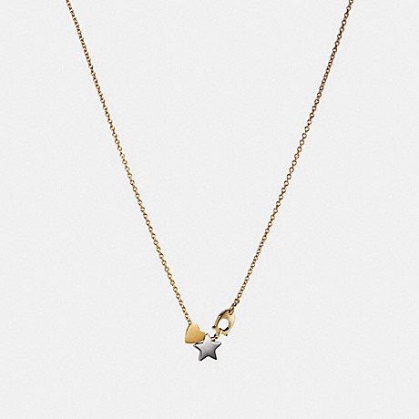 COACH STARDUST NECKLACE - MULTI/GOLD - F24236