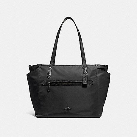 COACH NYLON BABY BAG - ANTIQUE NICKEL/BLACK - f24307