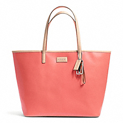 COACH PARK METRO LEATHER TOTE - BRASS/CORAL - F24341