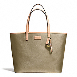 PARK METRO LEATHER TOTE - BRASS/GOLD - COACH F24341