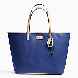 COACH METRO SAFFIANO LEATHER TOTE - SILVER/FRENCH BLUE - F24341