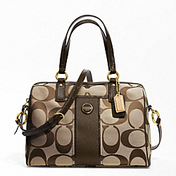 COACH SIGNATURE STRIPE SATCHEL - ONE COLOR - F24364