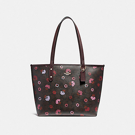 COACH f24372 CITY ZIP TOTE WITH PRIMROSE FLORAL PRINT IMBMC