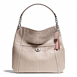 COACH PARK PYTHON HOBO - SILVER/PINK - F24383