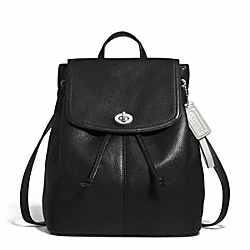 COACH PARK LEATHER BACKPACK - SILVER/BLACK - F24385