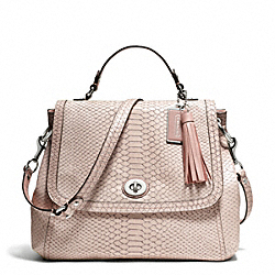 PARK PYTHON FLAP - f24392 - SILVER/PINK